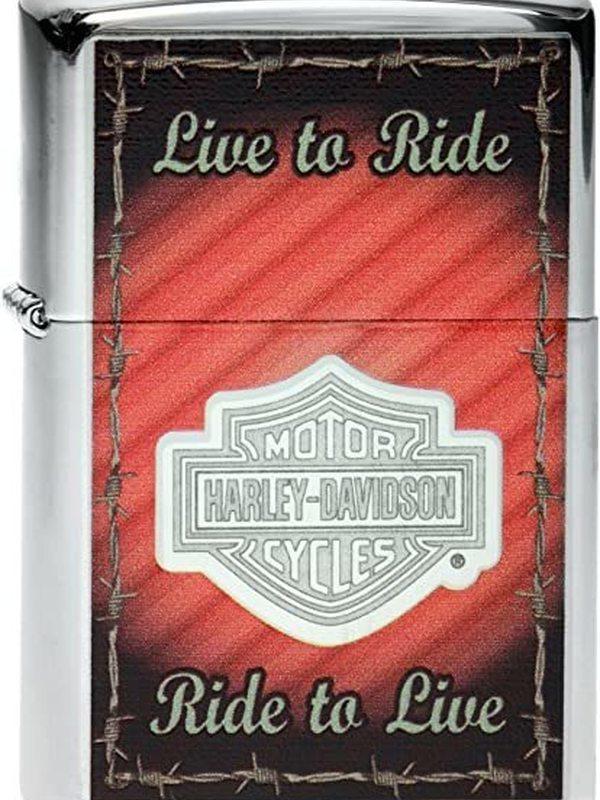 Zippo Harley Davidson - Live To Ride / To Live