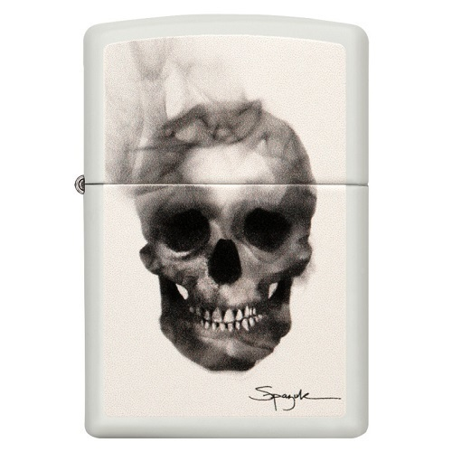Zippo Crâne Blanc