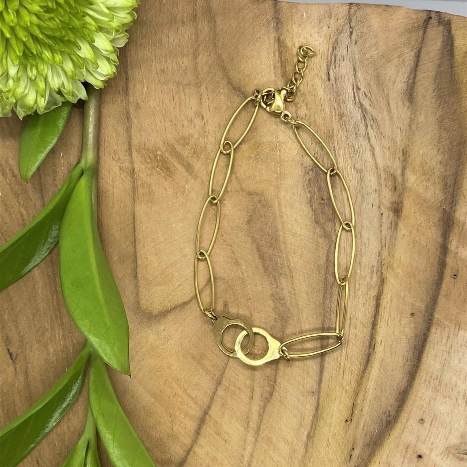 Bracelet doré - Menottes