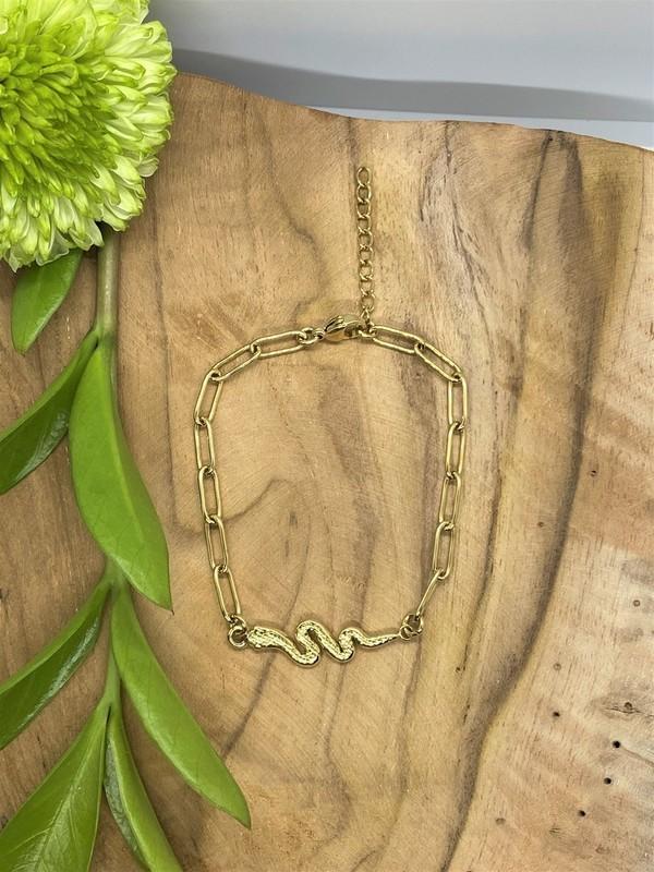 Bracelet doré - Serpent
