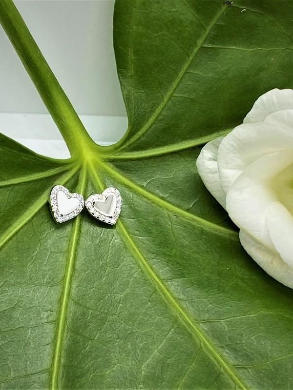Boucles d'oreilles argent - Coeur