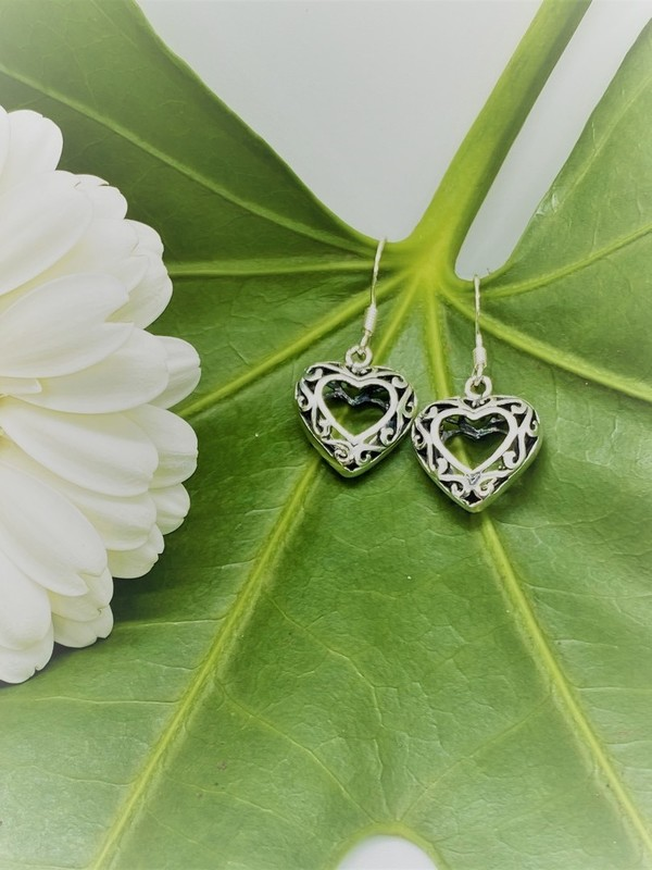 Boucles d'oreilles argent - Coeur celtique