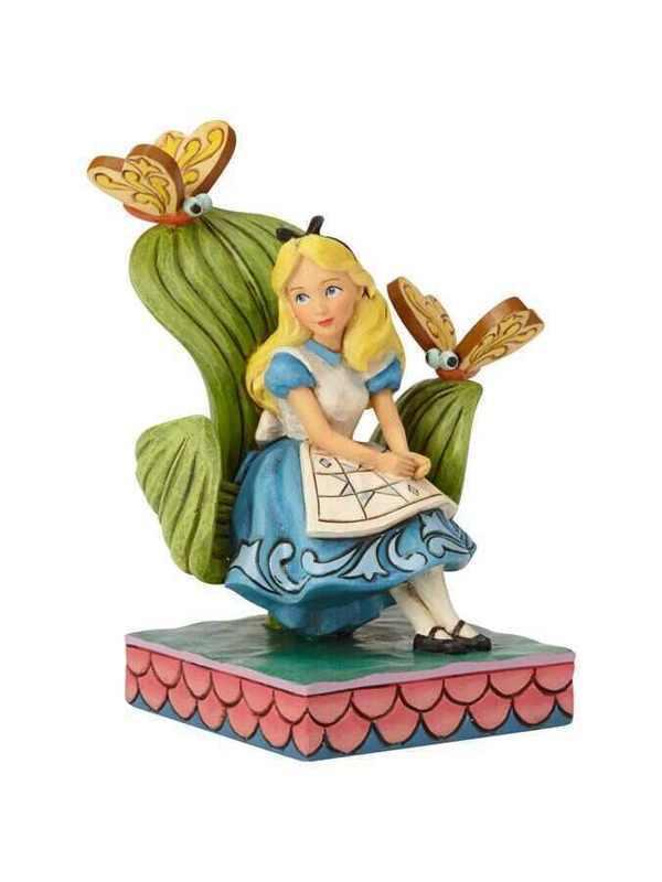 Alice au pays des merveilles sur son trône
